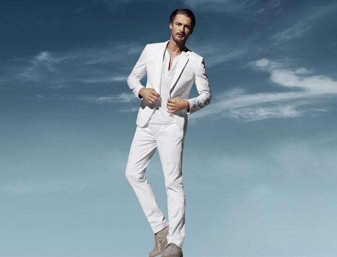 Mode homme : un costume blanc H&M Conscious