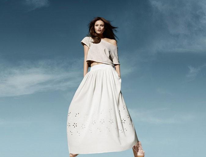 Mode : une jupe longue blanche H&M Conscious