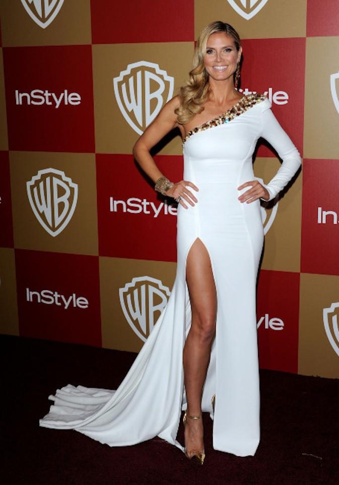 Heidi Klum, le blanc lui va si bien et ressort sur red carpet !