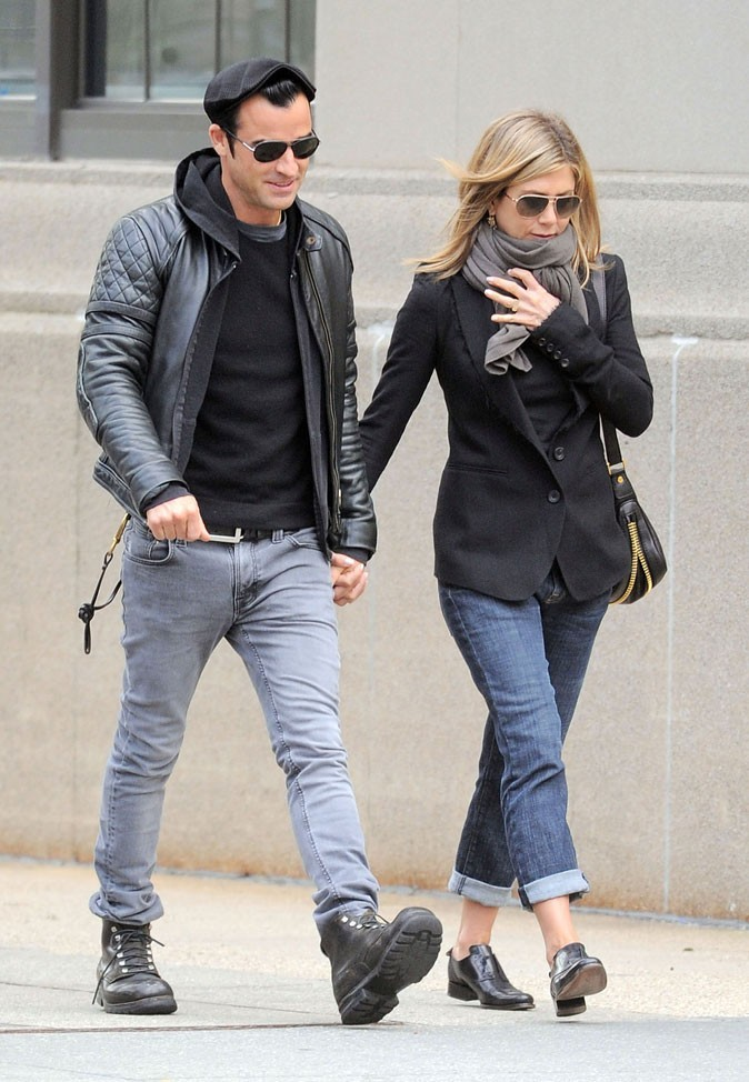 Jennifer et Justin en promenade dans les rues de NYC