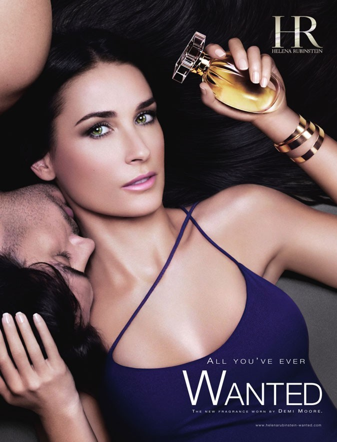Demi Moore, égérie pour le parfum Wanted d'Helena Rubinstein