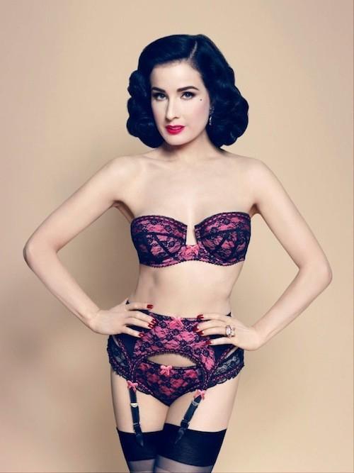 Dita Von Teese : Elle n'a pas choisi Nabilla… mais dévoile sa nouvelle collection de lingerie aux accents rétro !