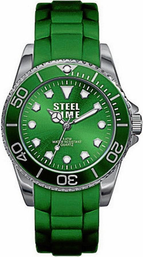 Bracelet en caoutchouc, Steel Time, 59 €
