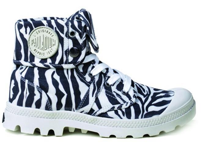Chaussures Baggy Animals Zebra, Palladium 89,95€