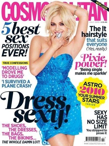 Pixie Lott en couverture de Cosmopolitan