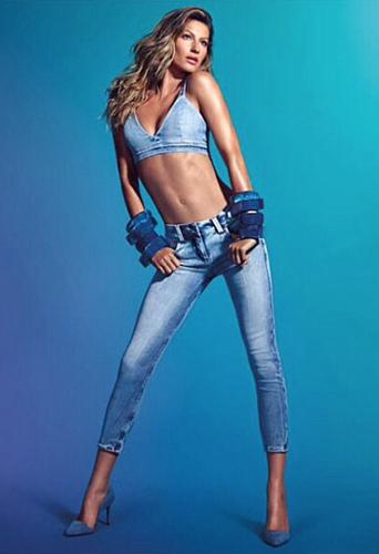 Mode : Gisele Bündchen : toujours aussi sexy pour la nouvelle campagne de jeans Colcci !