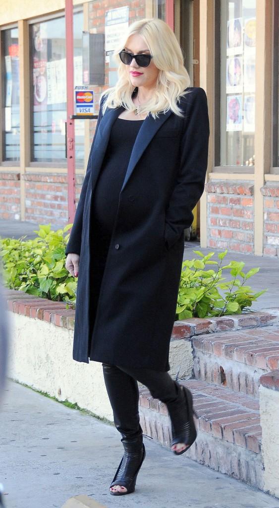 Gwen Stefani, enceinte et stylée même en ce début 2014, juste avant d'accoucher !