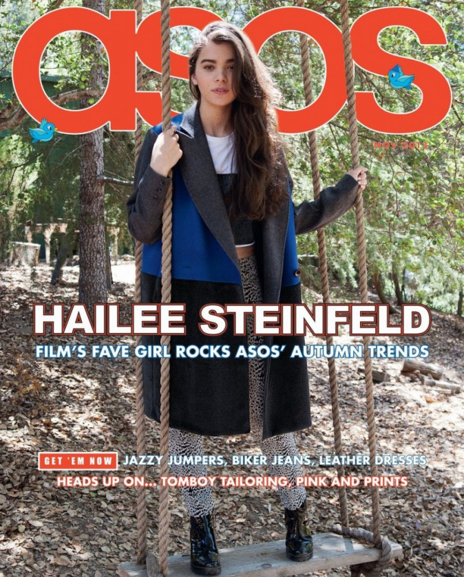 "Mode : Hailee Steinfeld, du film ""Romeo and Juliet"", cover girl pour Asos Magazine Novembre 2013 !"