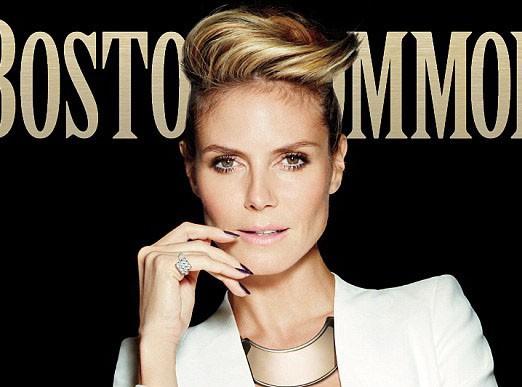 Mode : Heidi Klum : confidences et total look working-girl pour le magazine Boston Common !