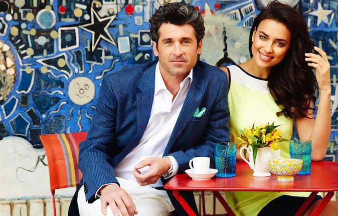 Irina Shayk et Patrick Dempsey pour la dernière campagne de Sacoor's Brothers !