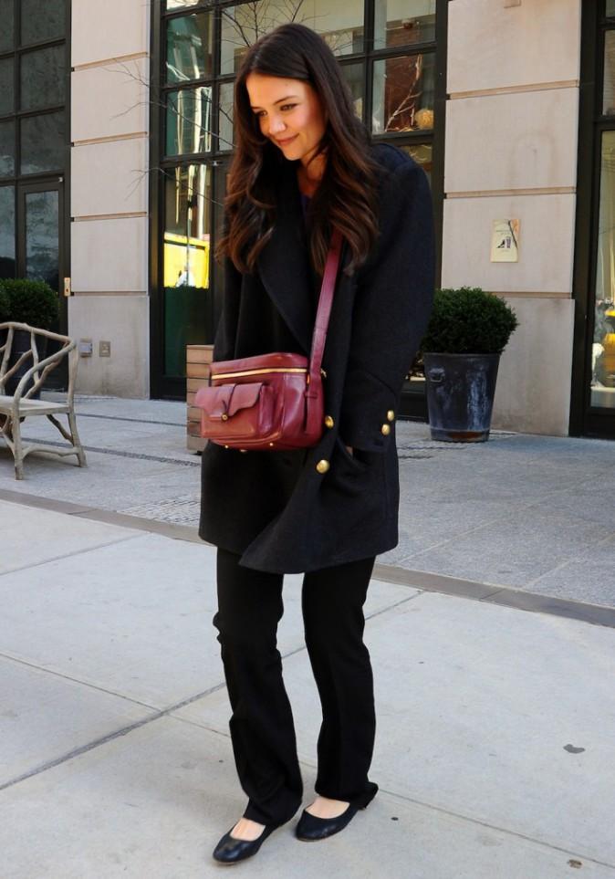Katie Holmes et son manteau Isabel Marant