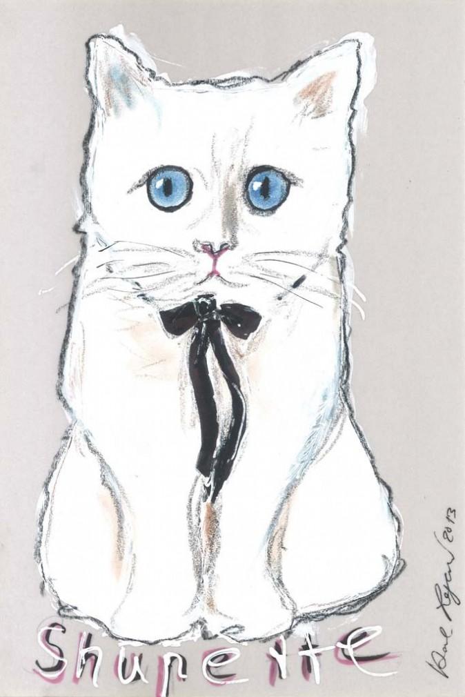 """Le dessin de la campagne Shu Uemura """"Shupette by Karl Lagerfeld """""""