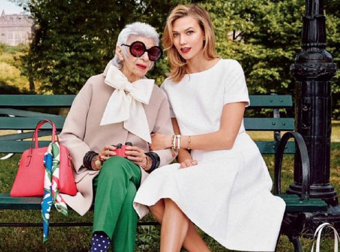 Mode : Karlie Kloss : Elle pose aux côtés de Iris Apfel pour Kate Spade