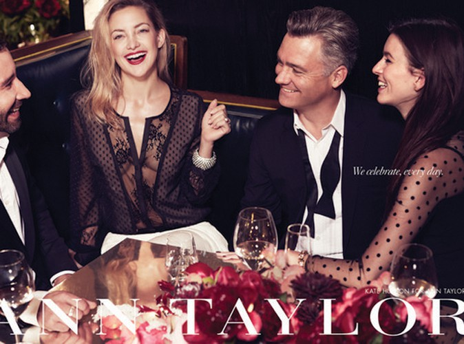 Kate Hudson, son fiancé Matthew Bellamy et des amis pour la nouvelle campagne Ann Taylor !