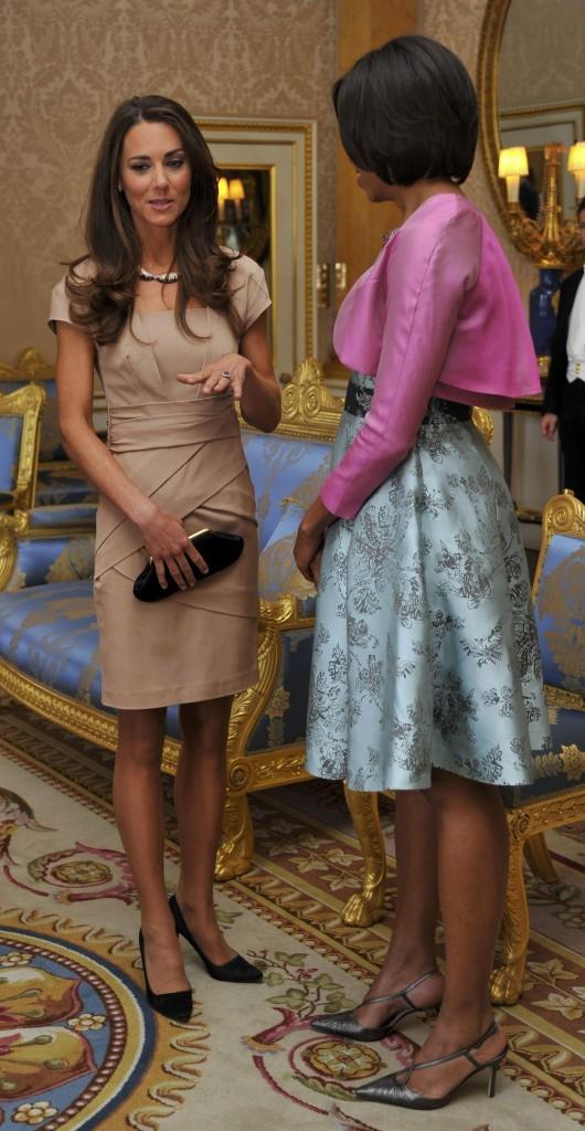 La Duchesse de Cambridge a choisi une robe crème de chez Reiss pour sa rencontre avec Michelle Obama
