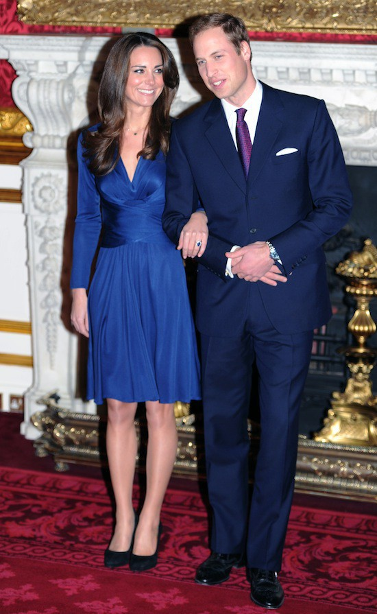 L'engagement dress de Kate Middleton