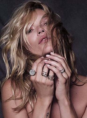 Kate Moss pour la campagne Fred