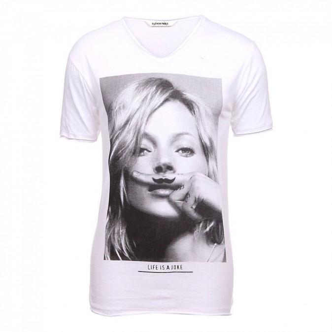 Kate Moss est passée des tee-shirts Eleven Paris...