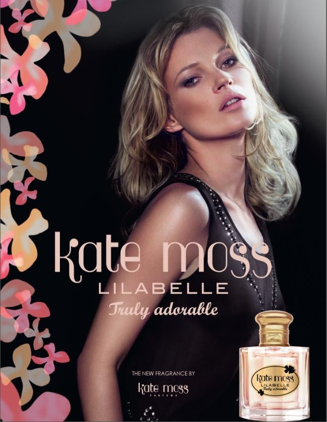 Kate Moss pour son nouveau parfum Lilabelle Truly adorable