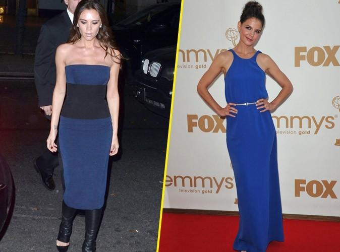 Mode : Katie Holmes et Victoria Beckham coordonnent leurs tenues ?!