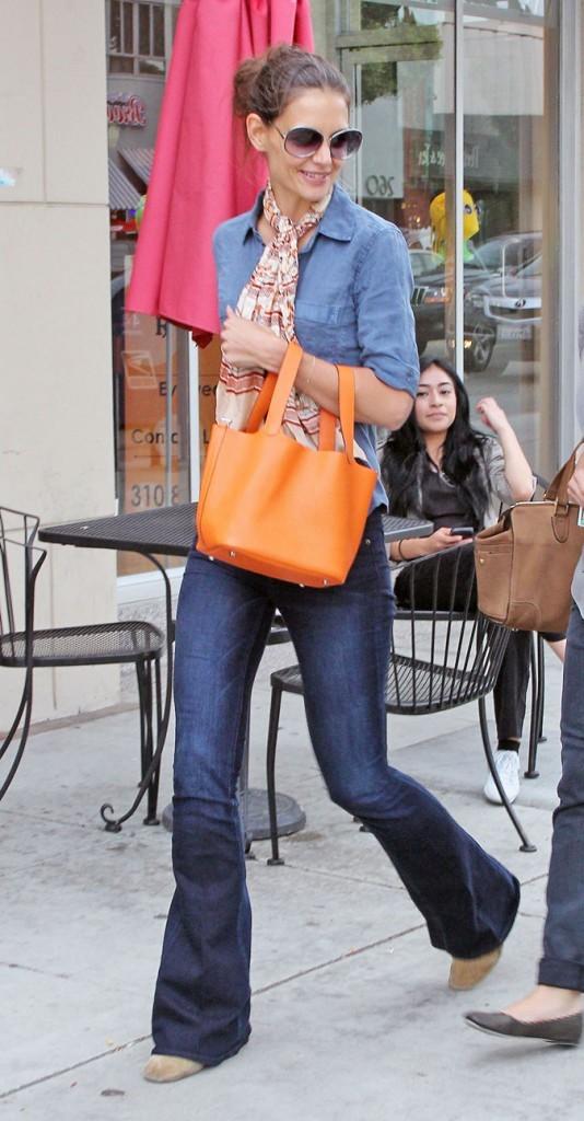 Jean flare et sac Hermès à Beverly Hills !