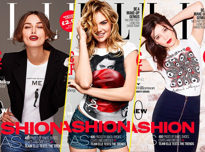 Mode : Keira Knightley, Kate Upton, Daisy Lowe... Le magazine ELLE UK s'offre 5 starlettes !