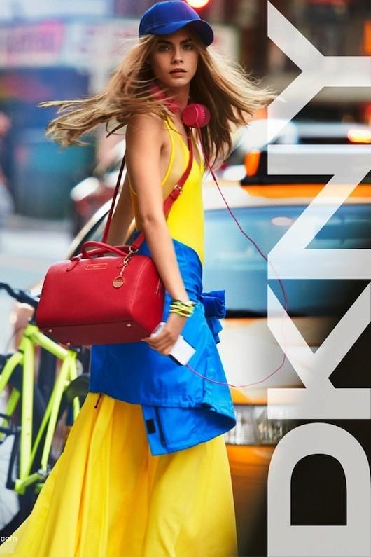 Cara Delevingne pour DKNY