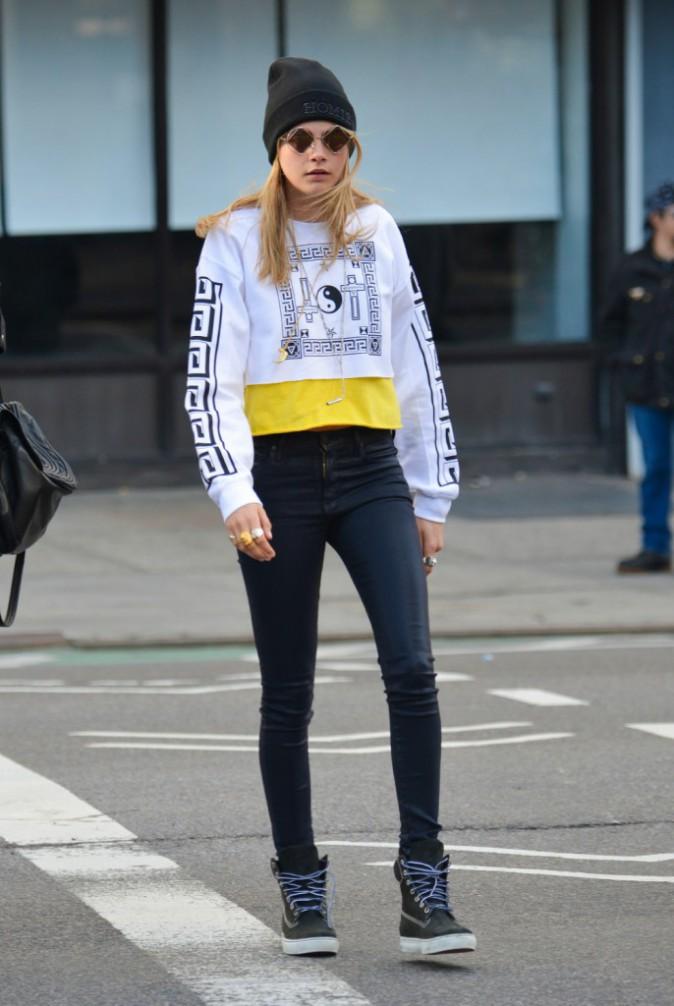 Le bonnet du 22/04/2013 porté par Cara Delevingne : chic ou swag ?