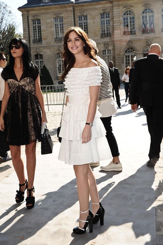 Leighton au dernier défilé Dior en septembre 2011