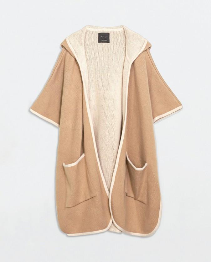 Cape à capuche, Zara 80€