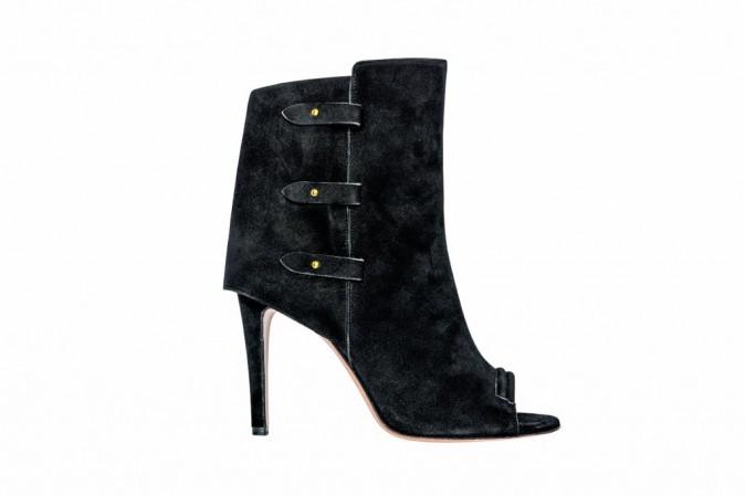 Low boots open toe en cuir velours, Jérôme Dreyfuss 755 €