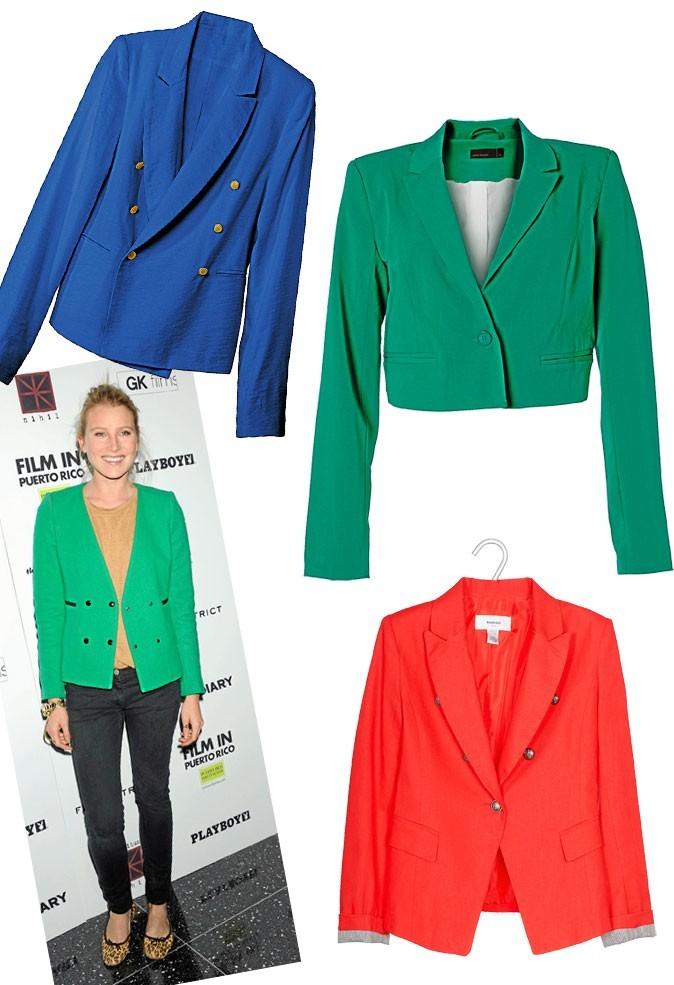 Le blazer colorama comme Kristen Dunst, Drew Hemingway et Olivia Palermo