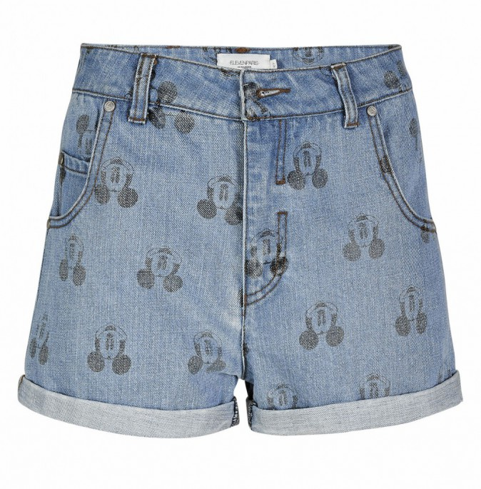 Short en denim Mickey, Eleven Paris, 79€