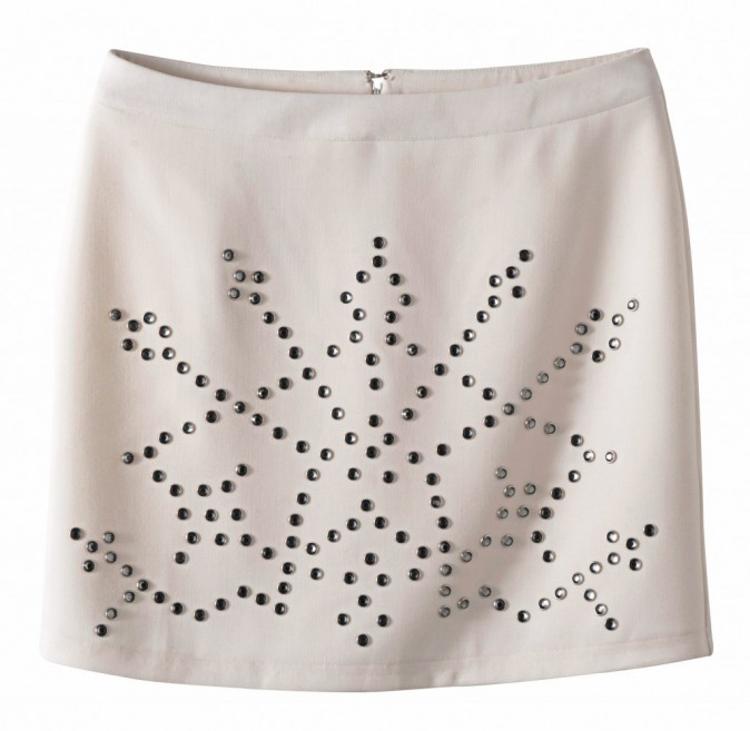 Jupe à clous imitation strass, 3 Suisses, 39€