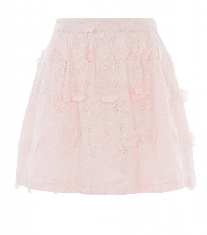 Jupe à volants en broderie anglaise, New Look, 23€