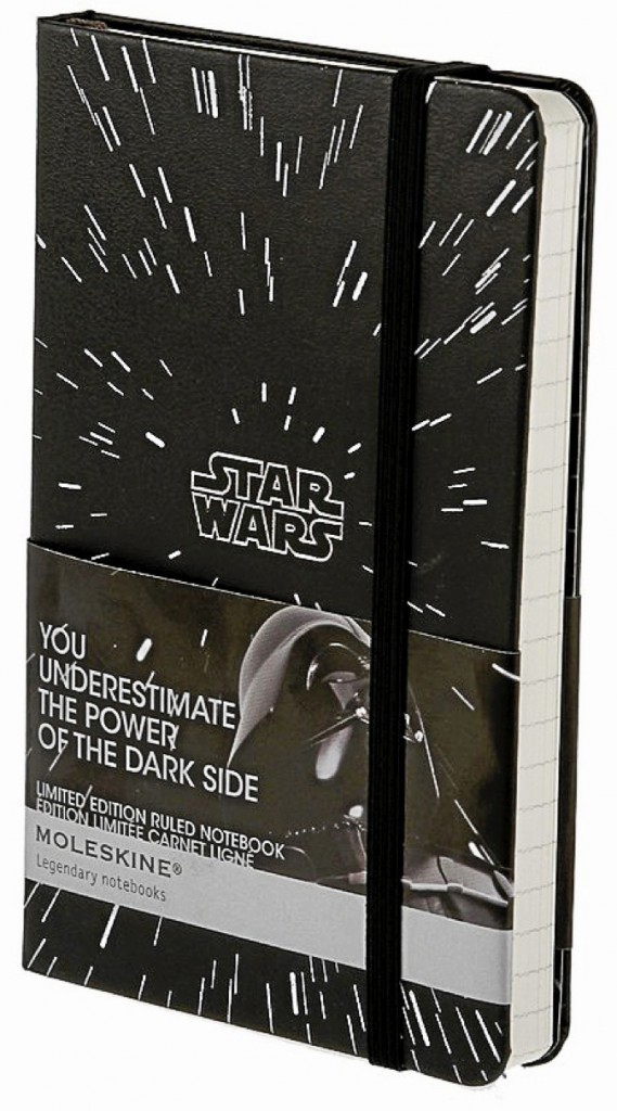 Carnet Star Wars en édition limitée, Moleskine 14 €