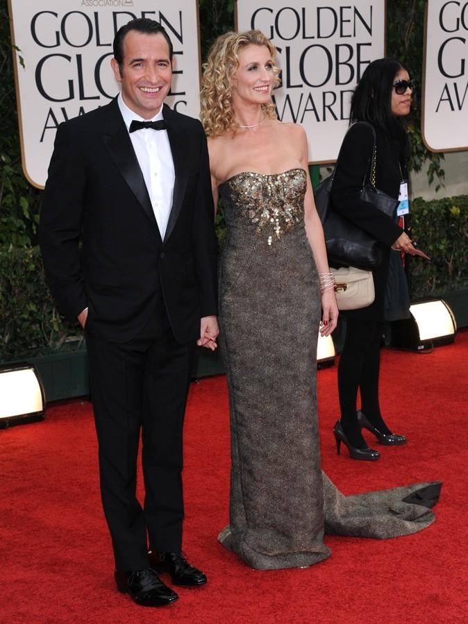 Janvier 2012 : Alexandra Lamy et Jean Dujardin à la cérémonie des Golden Globes (Los Angeles)