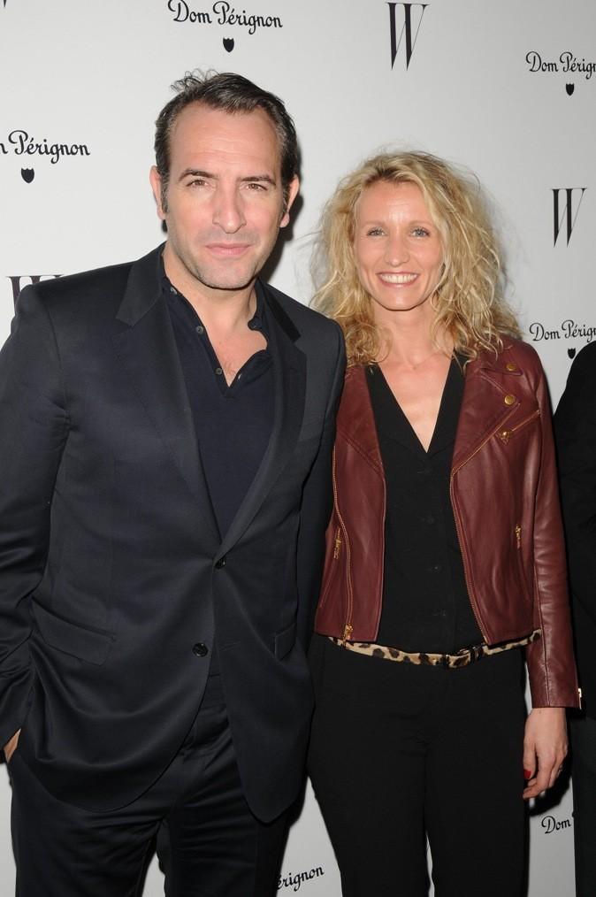 Janvier 2012 : Alexandra Lamy et Jean Dujardin à la soirée donnée par le magazine W (Los Angeles)