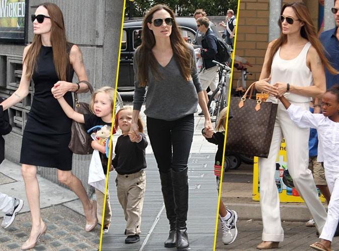 Les looks d'Angelina Jolie, c'est tout noir ou tout blanc !
