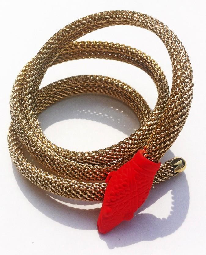 Bracelet Long snake, Mimilamour 45 €