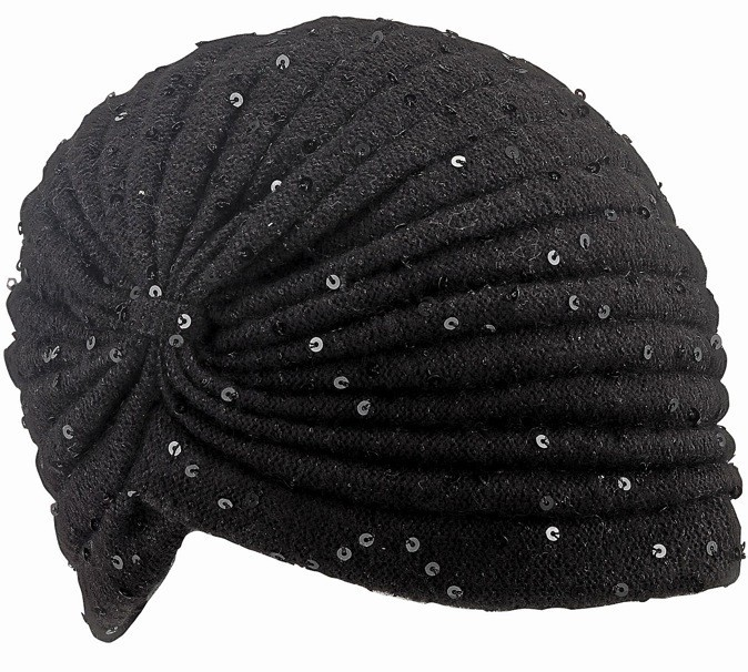 Turban en laine et sequins, Accessorize 20 €