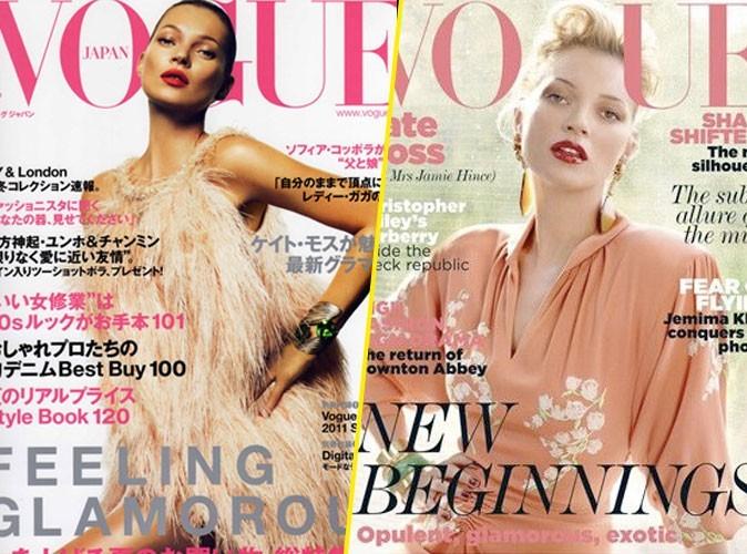 Kate Moss collectionne les couvertures de Vogue depuis presque 20 ans !