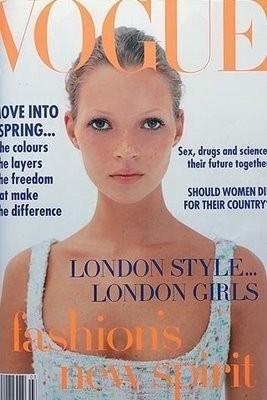 Une couverture du Vogue UK au début des 90's !