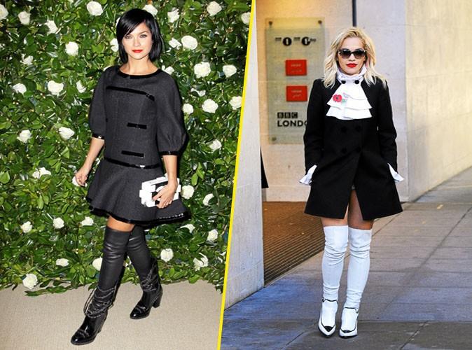Overdose de cuissardes: Rita Ora et Leigh Lezark