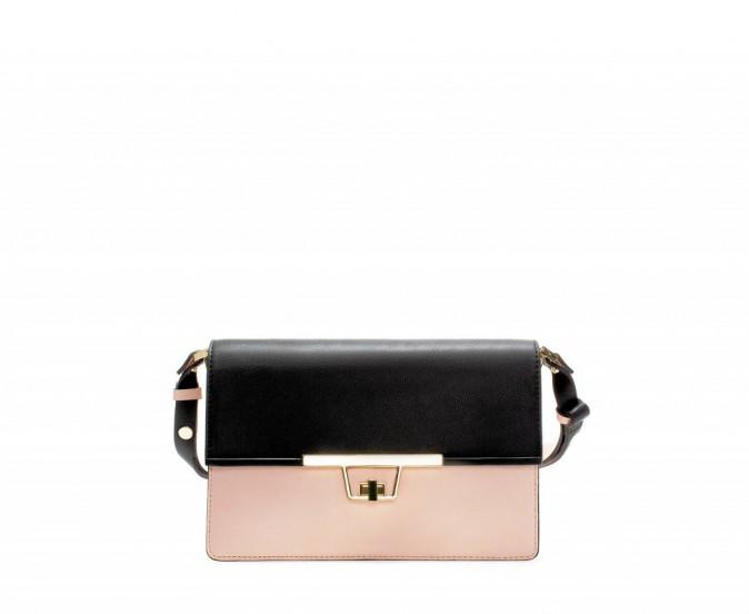 Prescription : calmos sur le crado avec le sac bandoulière bicolore, Zara 49,95 €