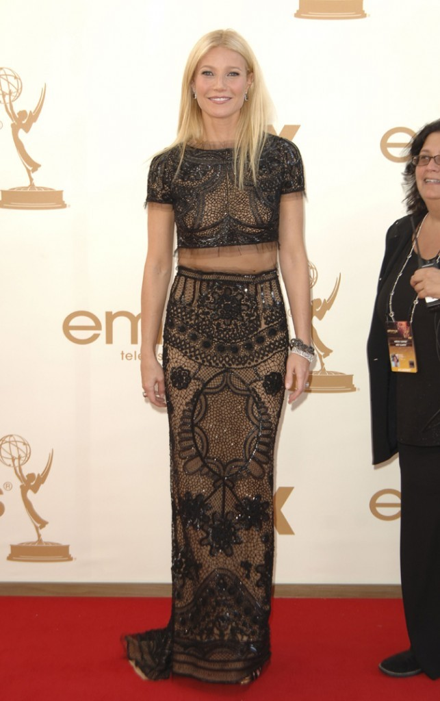 Tendance princesse : la robe cropped en dentelle Emilio Pucci de Gwyneth Paltrow (Glee) !