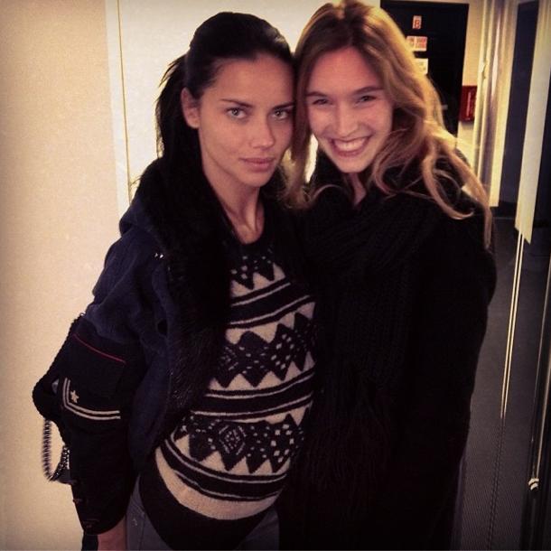 Manuela Frey avec Adriana Lima
