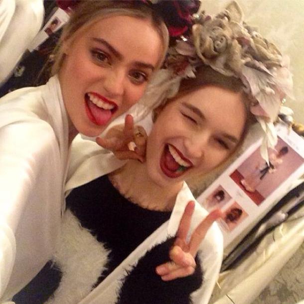 Manuela Frey pour le défilé Dolce & Gabbana