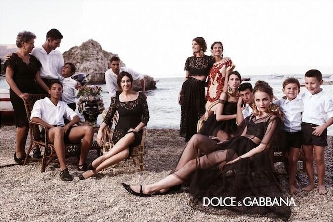 La famille Dolce & Gabbana
