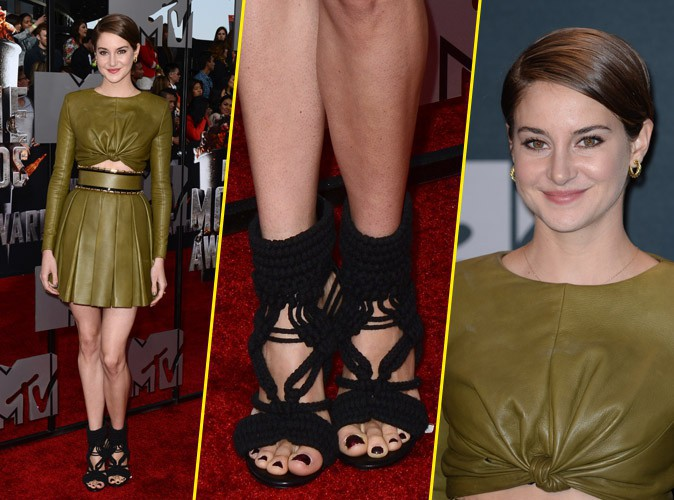 Shailene Woodley toute en cuir, ambiance romaine sur le red carpet !